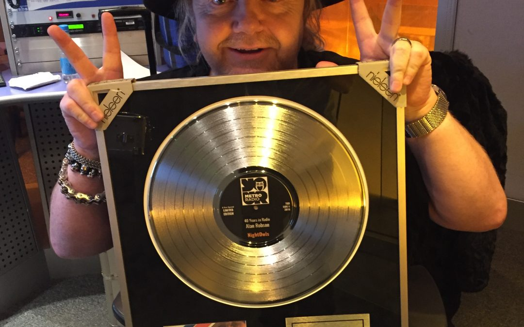 Alan Presented With Platinum Disc