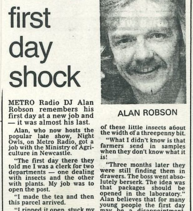 *Article* Alan's First Day Shock