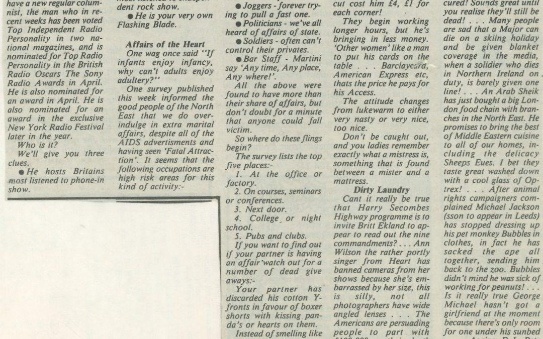 *Article* Alan's New Column For The Washington Echo