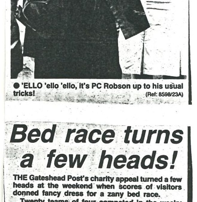 *Article* Bed Race Turns Heads!