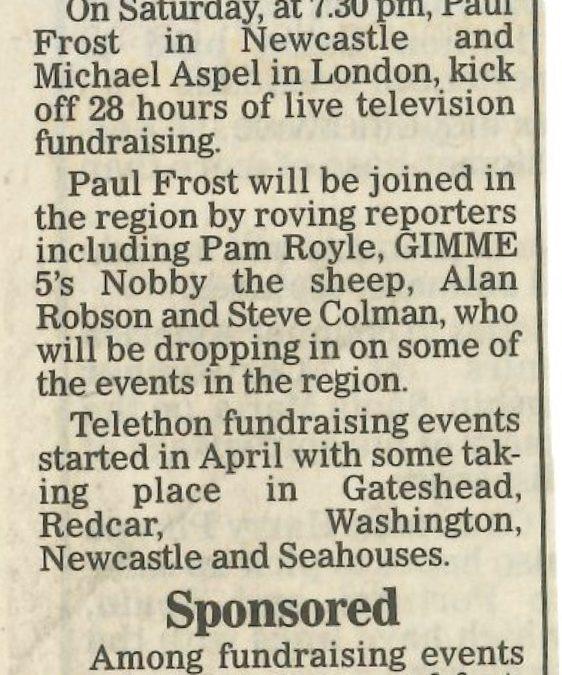 *Article* Alan Takes Part In ITV's Telethon