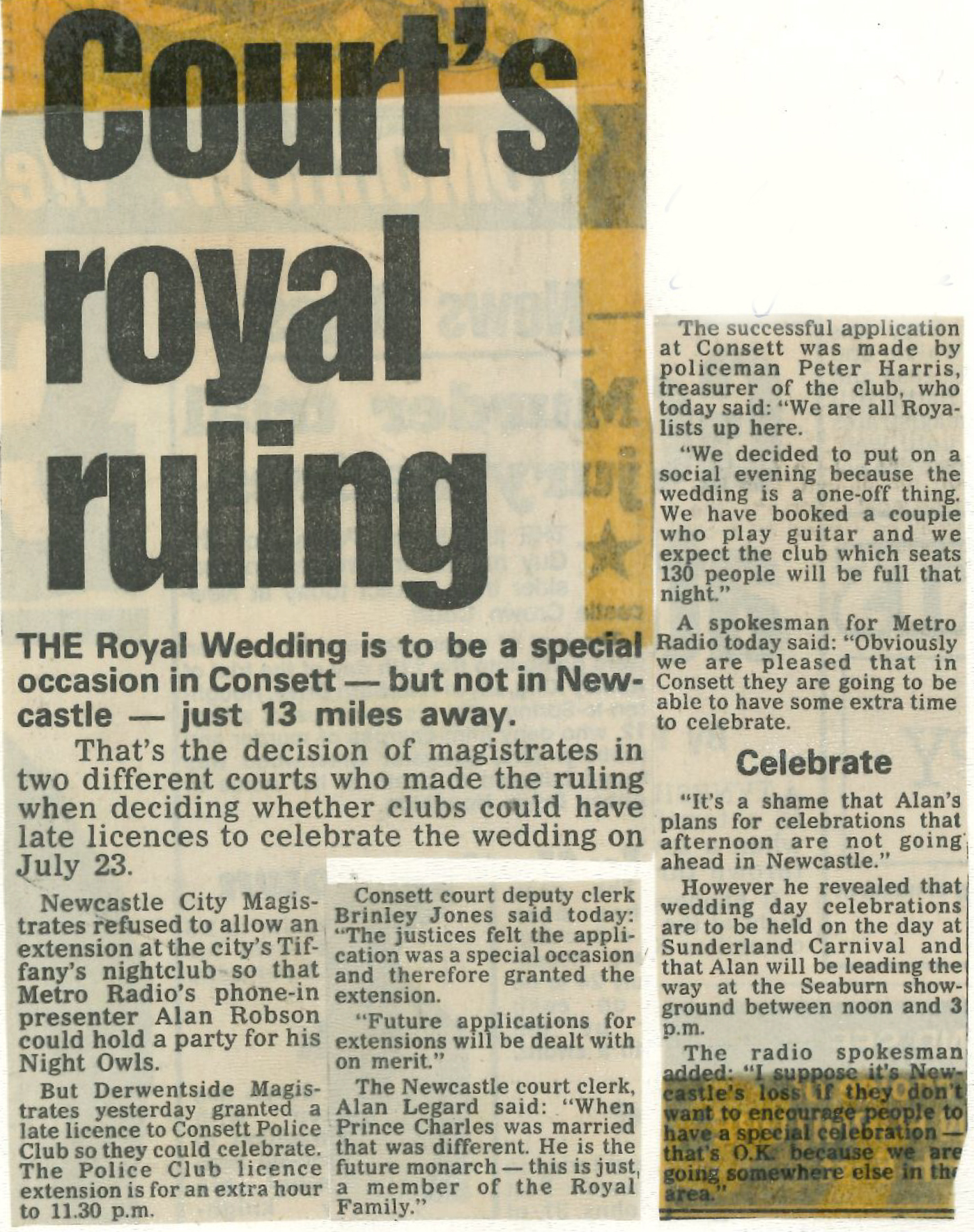 *Article* Royal Ruling