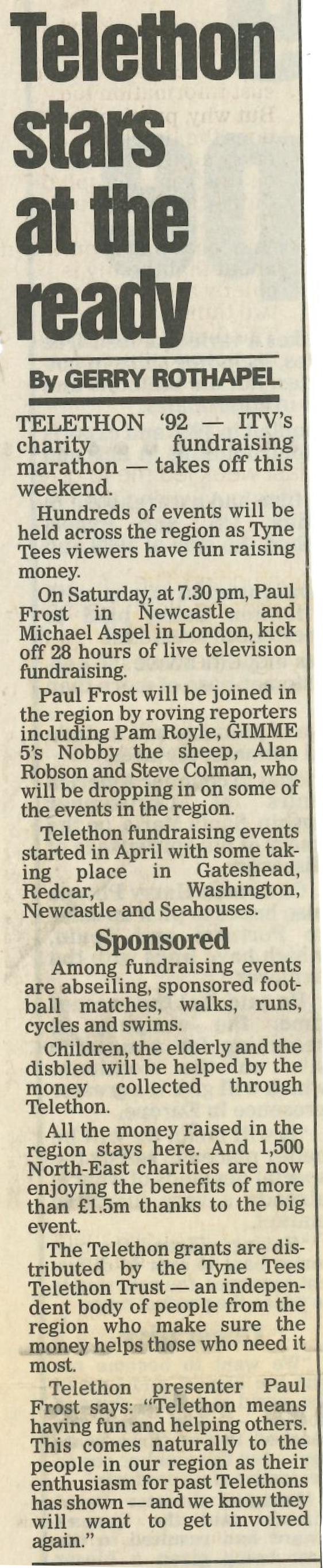 *Article* Alan Takes Part In ITV's Telethon