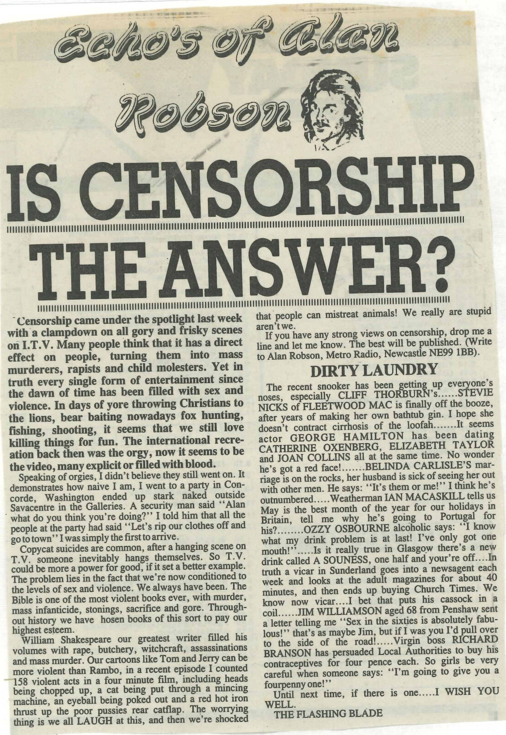 *Article* Is Censorship The Answer?