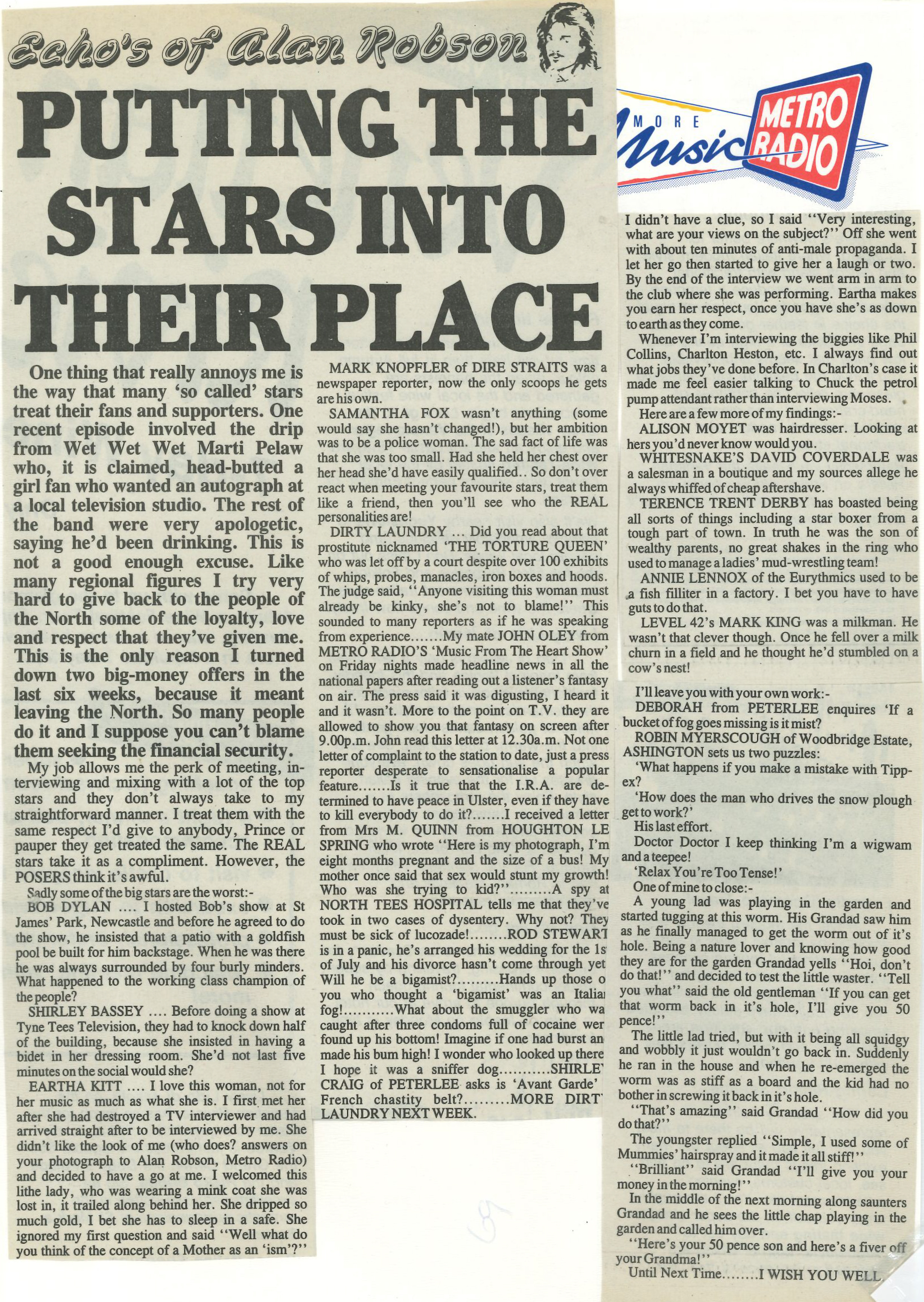 *Article* Putting Stars Into Their Place