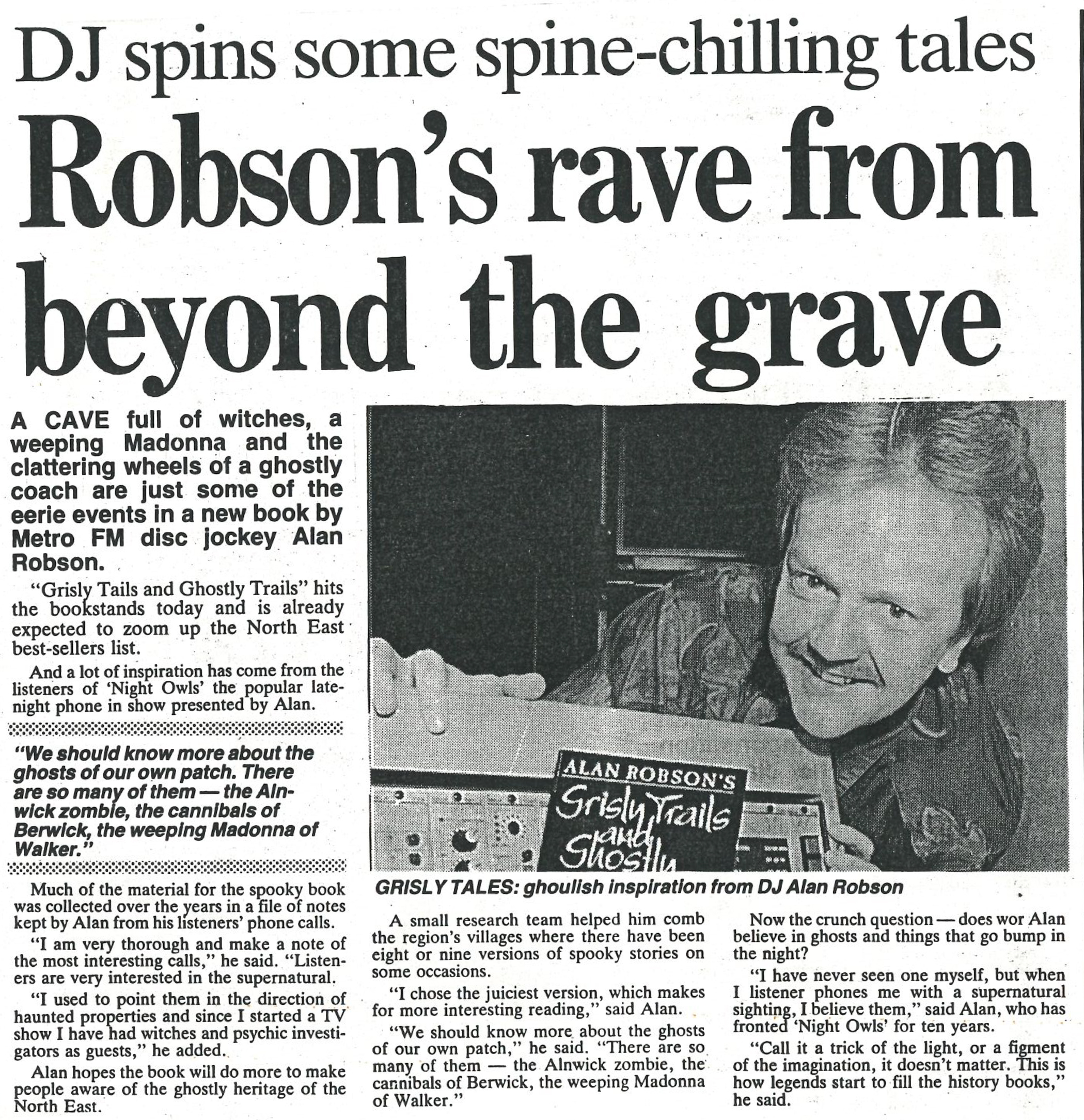 *Article* The Rave From Beyond The Grave