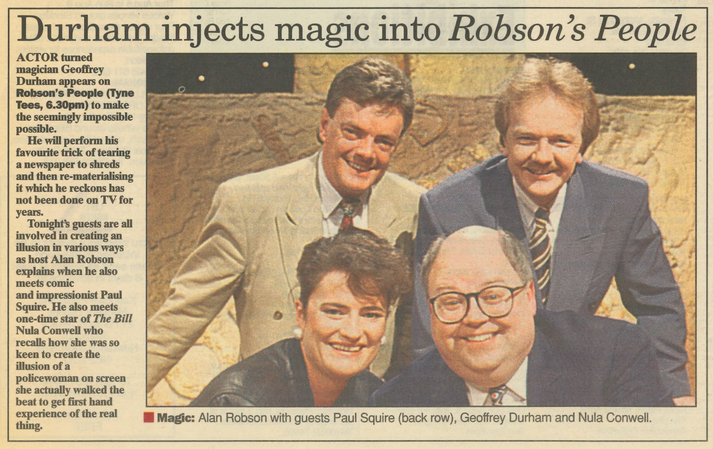 *Article* Robson's People Is Magic