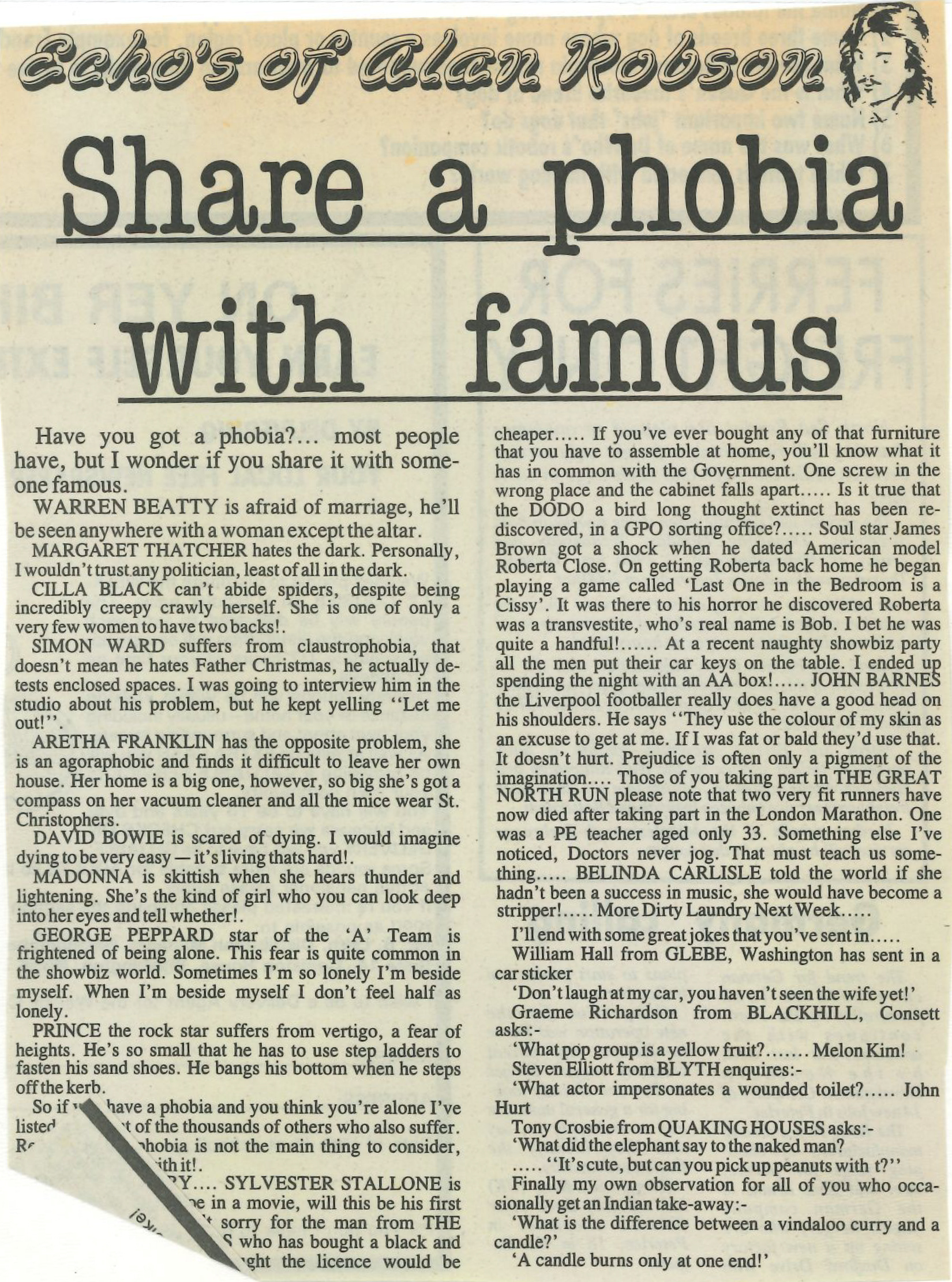 *Article* Share A Phobia