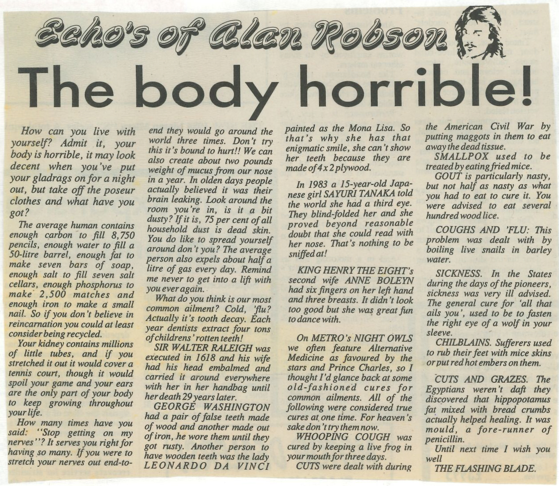 *Article* The Body Is Horrible