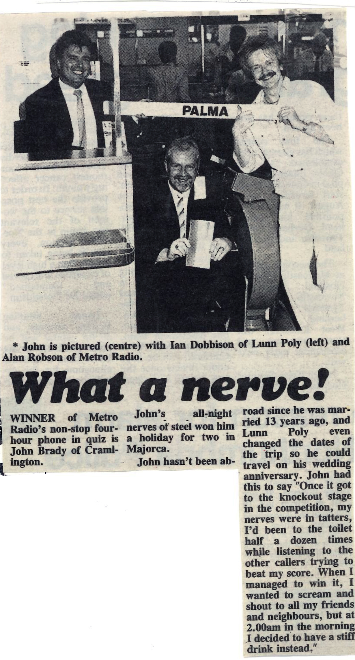 *Article* What A Nerve – Quiz Winner Announced